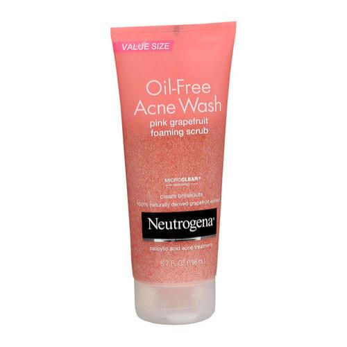 Neutrogena Oil-Free Acne Wash- Free-Acne-Wash-Pink-Grapefruit-foaming-scrub