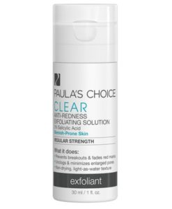 Clear Regular Strength Anti-Redness Exfoliating Solution – Trial size