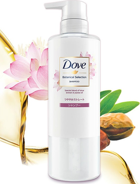 Dầu gội DOVE Botanical Selection - Lotus Extract & Jojoba Oil (500g)